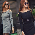 2017 New Spring Summer Fashion Sexy Women Sweater Knitted Dress Sleeveless Bodycon Stretch Woman Solid Casual Party Lady Dresses