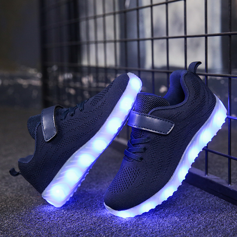 Kids /& Teens LED Luminous Lace Light up Shoes Casual Sneakers USB Rechargeable