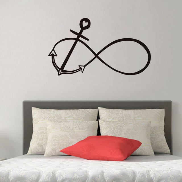 dctop constellation with anchor vinyl wall sticker funny nautical