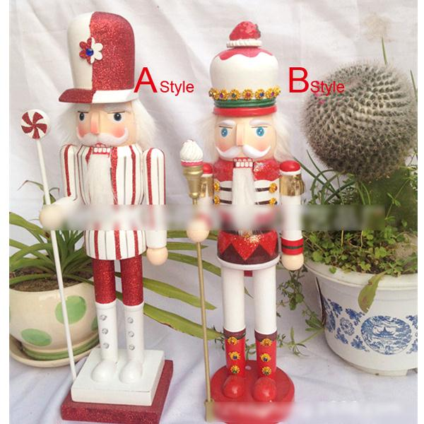 ht064 free shipping toy 38cm cute candy style walnut nutcracker soldier puppet crafts birthday gift christmas decoration in action toy figures from toys