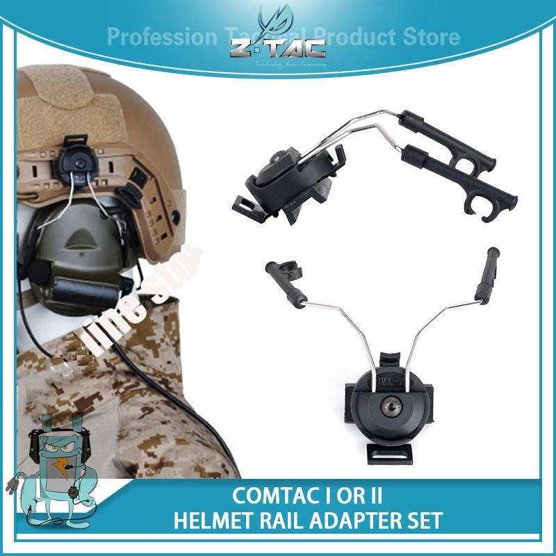 Z-tactical Military Peltor Comtac Headsets Adapter Helmet Rail Connecter Set For COMTAC I COMTAC II Hunting Headphones Gear IPSC comtac 3