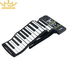 PN88S 88Keys 28 Tones 100 Rhythms Electronic Flexible Roll Up Piano USB & MIDI Port with Speaker for Children недорого