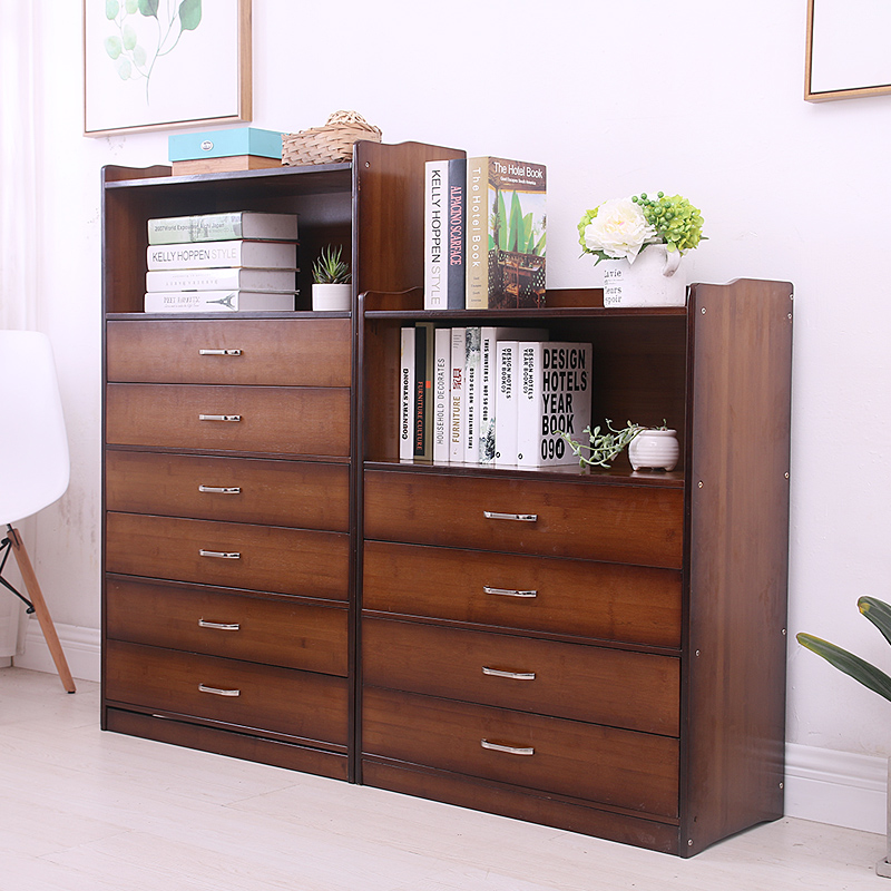 Cabinets Chest Drawers Chest Of Drawers Wardrobe font b Closet b font Brown Solid Wood Furniture