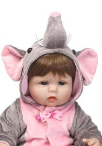 Image 2 - Bonecas de silicone cmlifelike de 18 polegadas, bebês, renascidas, bebê, menino, bonecas, brinquedos vivos reais para meninas, bebê, presente bonecas renascer