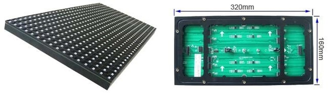P10 rgb SMD(3in1) full color indoor LED module; screen unit board,32*16pixels,320mm*160mm