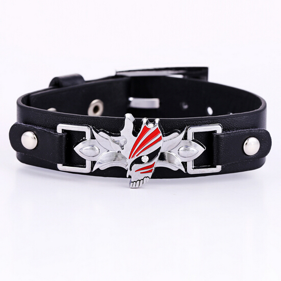 Bracelet BLEACH Black Bracelets Anime Punk Bangles Fashion s