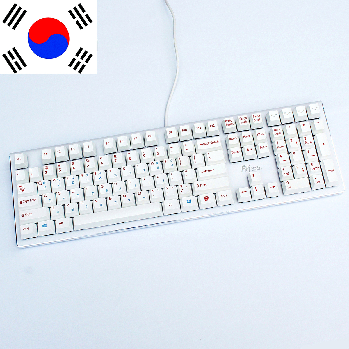 108 Pcs/set Mechanical Keyboard Korean Key Caps Dye-Sublimation Wear-resisting OEM PBT Thicken Key Cap ANSI Layout No Oil