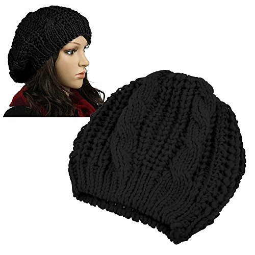 BomHCS Fashion Winter Warm Women Beret Chunky Knit Knitted Braided Beanie Cap Slouch Hat hot winter beanie knit crochet ski hat plicate baggy oversized slouch unisex cap