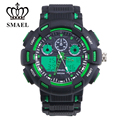 SMAEL Man Dual Display Outdoor Mountain 50m Waterproof Sport Electronic Watch Sport Watch For Teenage Gift 1366
