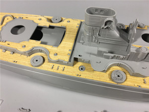 Image 3 - 1/350 Scale Wooden Deck for Revell 05040 Bismarck Battleship Model Kit CY350034