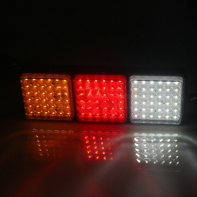 Image 5 - Rectangular Tail Light 2X 24V 108 LED Tail Light Truck Trailer Rear Indicator Stop Reverse Signal Lamp For Campers Buses Vans-in Signal Lamp from Automobiles & Motorcycles