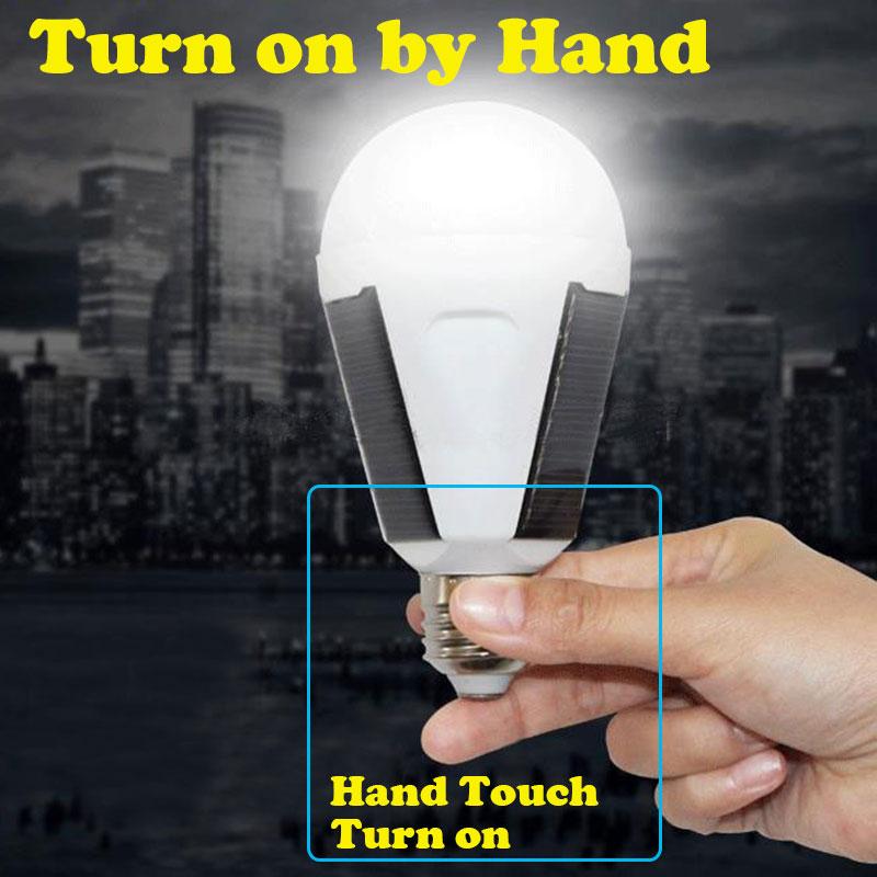 Camping Tent Solar LED Lamp For Fishing Light Battery Power Emergency Bulb Spotlight Waterproof IP65 7W 85V-265V