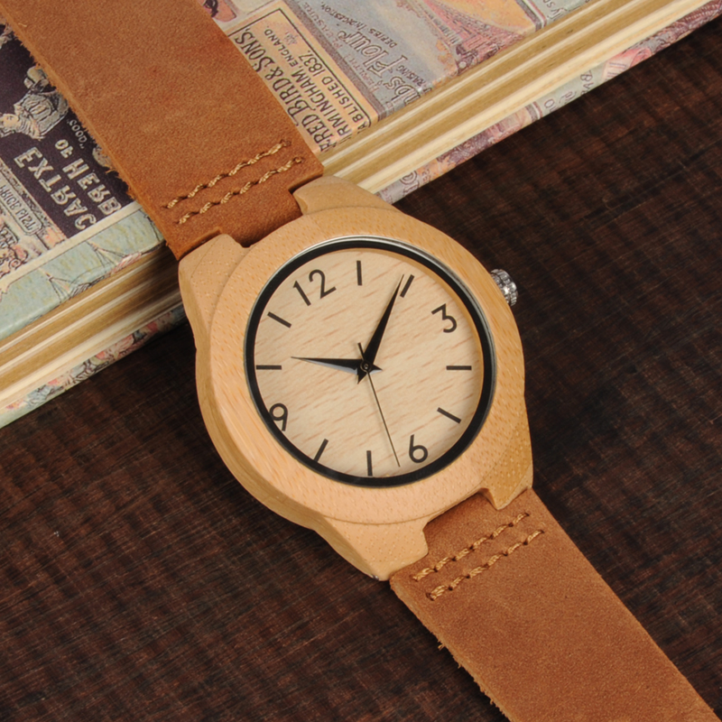 Image 3 - TOP Luxury Brand Watch BOBO BIRD Women Wristwatches Handmade Ladies Wood Watches With Genuine Leather relogio feminino C A32-in Women's Watches from Watches