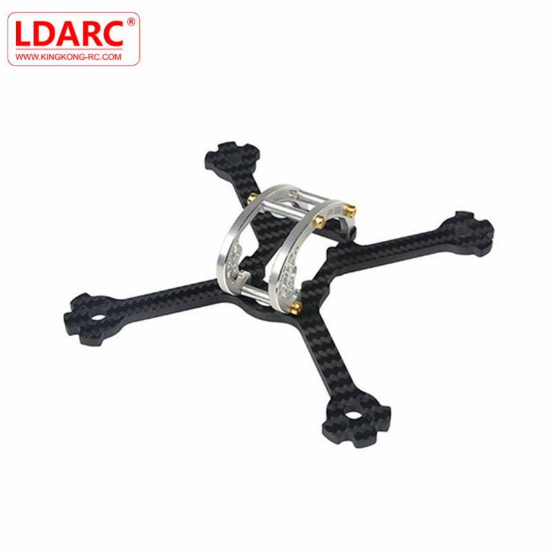 KINGKONG/LDARC FPV EGG PRO 138mm RC Drone FPV Racing Frame Kit 4mm Carbon Fiber+7075 Aluminum For DIY Assembly Multirotor Accs diy fpv mini drone qav210 zmr210 race quadcopter full carbon frame kit naze32 emax 2204ii kv2300 motor bl12a esc run with 4s