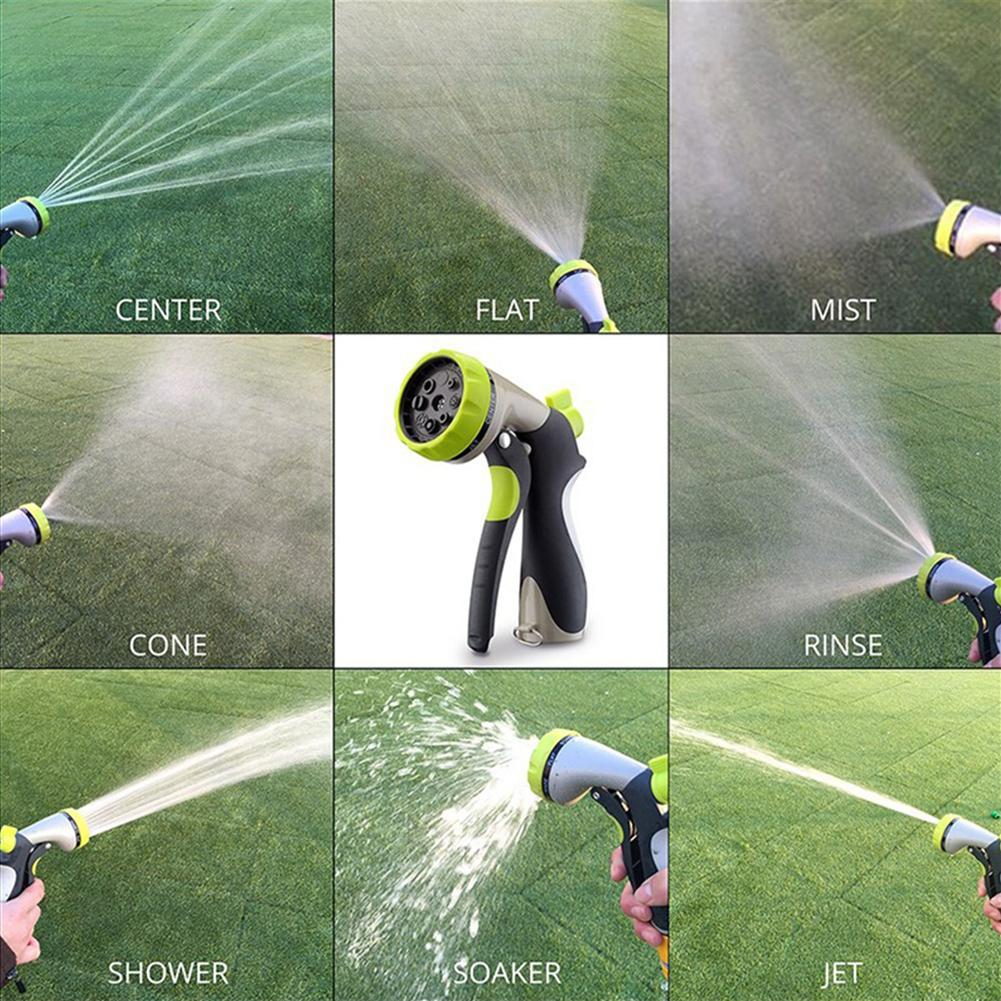Garden Hose Spray Water Nozzle with 8 Patterns for Plants Car Wash Pet Shower Hot