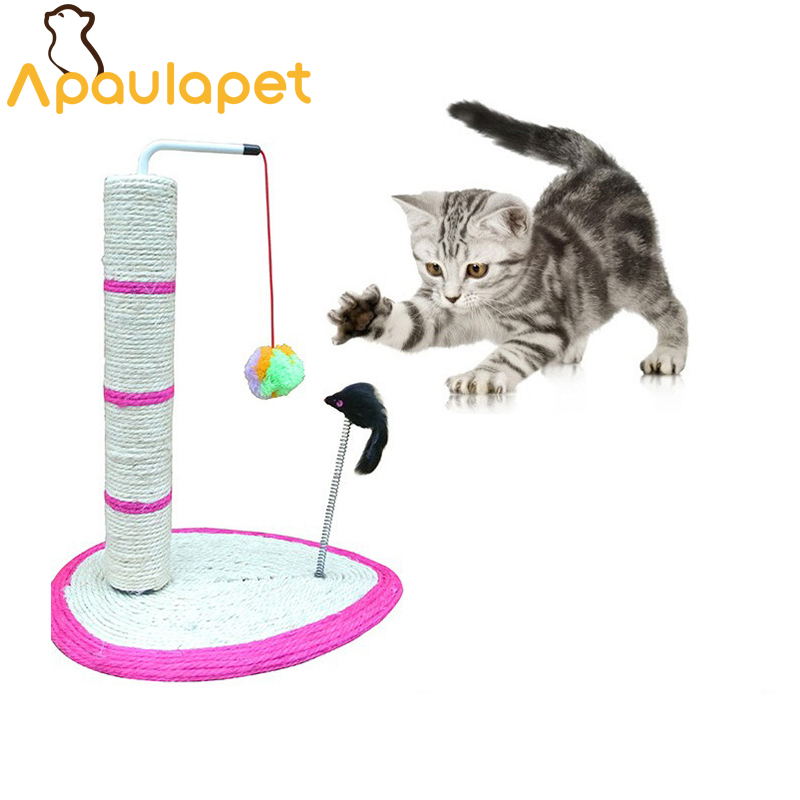 APAUALPET Sisal Cat Toy Cat Litter Cat Tree Climb Grinding Claws With Ball Mouse