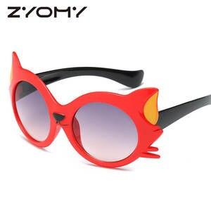 zyomy Cat Eye Sun Glasses Children Shades Brand Designer 6f7466e786