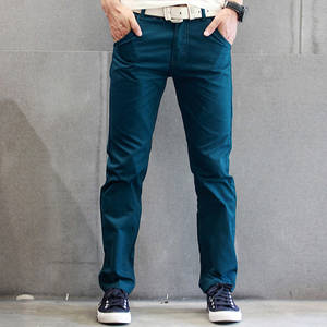 Naiveroo Casual Men Slim Straight Spring Trousers Plus Size
