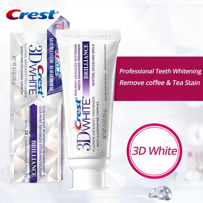 Crest 3D biała pasta do zębów wybielanie zębów blask czułość emalia opieki witaminy kolekcja Gum pielęgnacja usunąć plamy zębów