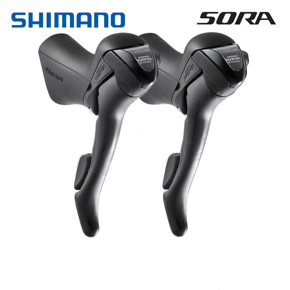 Image 2 - Shimano SORA ST 3500 Shift Brake Lever 2x9 Speed Left / Right / Pair 3500 Shifters Levers w/ Original Inner Cables-in Bicycle Derailleur from Sports & Entertainment