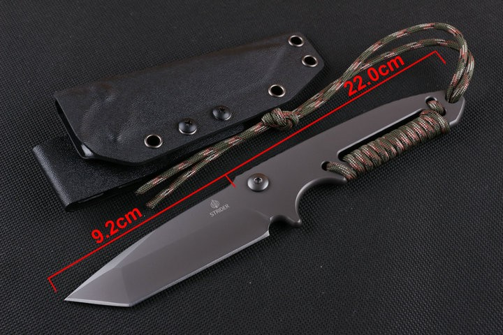 Buy Best Quality D2 Strider Hunting Tactical Knife Full Tang Handle Multi Camping Survival Knives Utility Outdoor EDC Tool K Sheath cheap