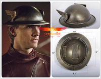 (In stock) The flash Season 2 Jay Garrick Silver Kettle Helmet Hat Adult Halloween Carnival Cosplay Prop One Size(Ship From US)