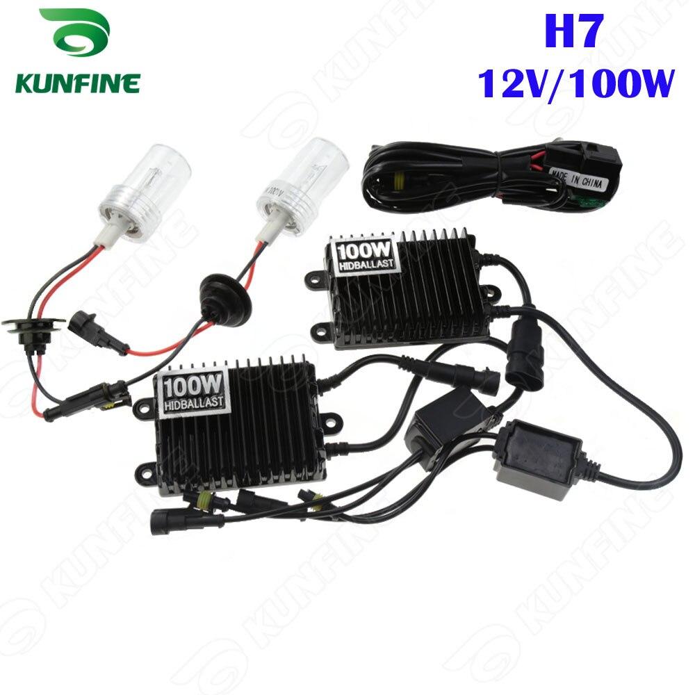 Phare xénon H7 12 V/100 W 4300 K 6000 K 8000 K HID Kit de xénon de Conversion pour véhicule phare voiture HID lumière avec Ballast AC