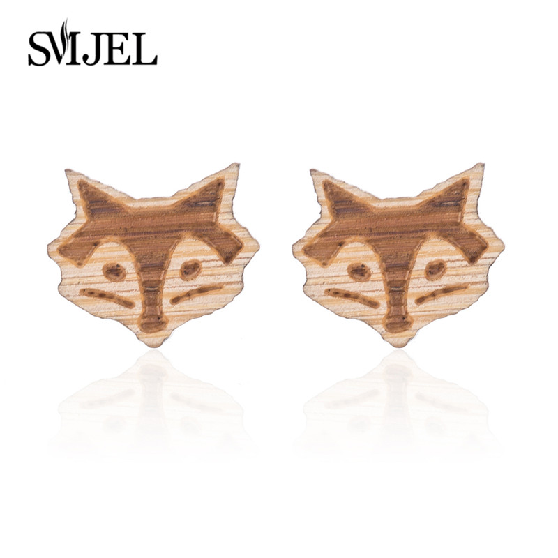 Fox Earrings Wood-4