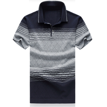 M-6XL plus size 3 colors natural silk summer mens polo shirts brands short sleeve polo shirt men polo homme P610