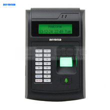 DIYSECUR LCD Biometric Fingerprint PIN Code Door Lock Access Control + 125KHz RFID ID Card Reader With USB / Door Bell Button