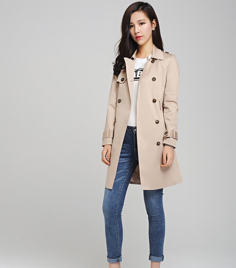 a39df7d31fb3 2015 Autumn New Fashion Women Trench Coat Plus Size Slim Duster Coat Casual  Black Gary Beige Outwear Ladies Long Coats Zb15924