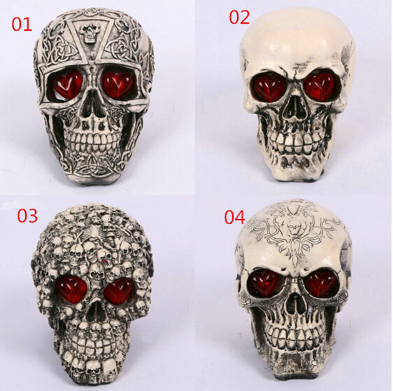 wholesale novelty halloween flash decoration skull tricky toys horror spoof whole person luminous resin 40piecelot - Halloween Novelties Wholesale
