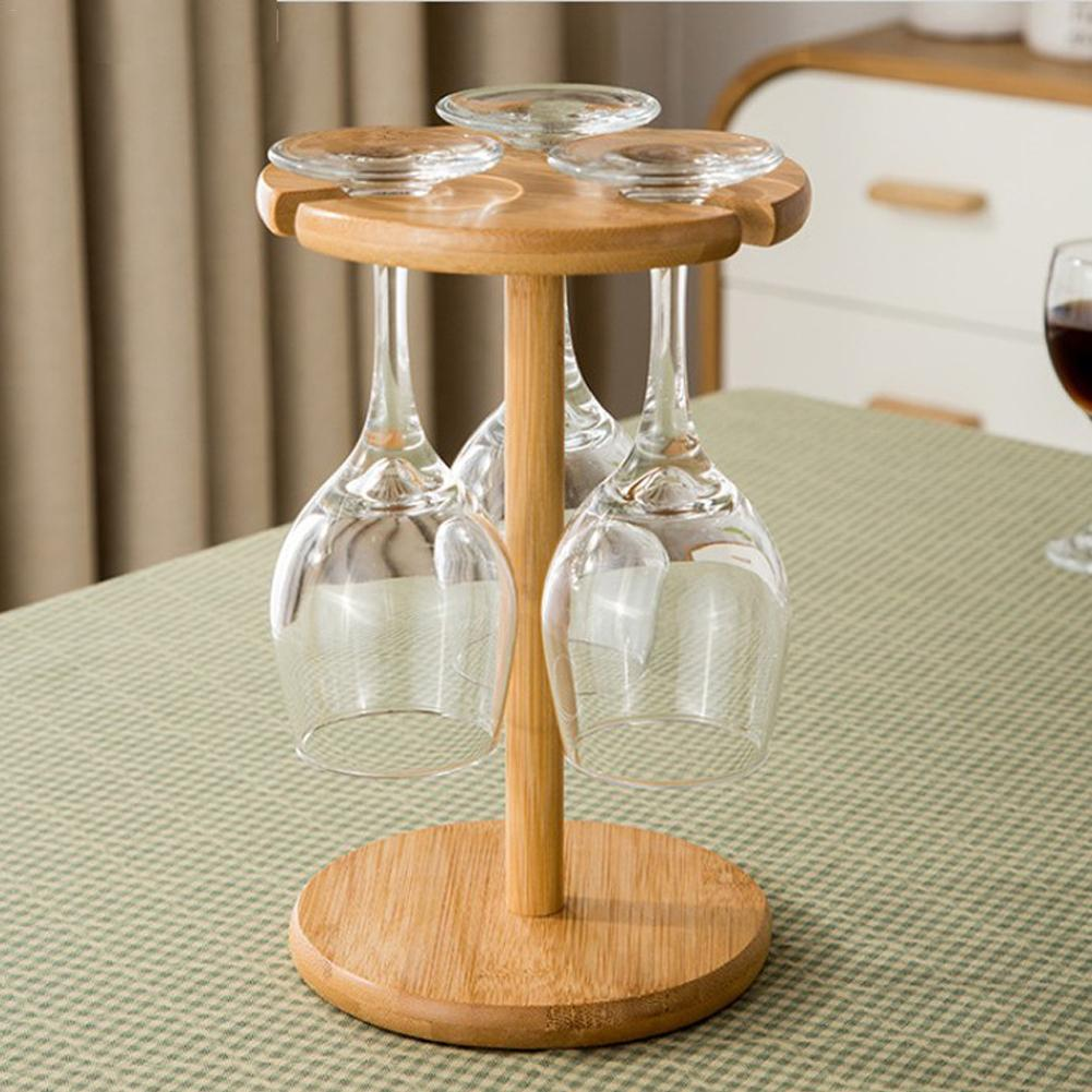 2019 Nieuwste Ontwerp Wijn Glas Rekken Houten Europese Stijl Wijn Opknoping Ondersteboven Cup Bekers Display Rack Bar Rvs Decoratieve