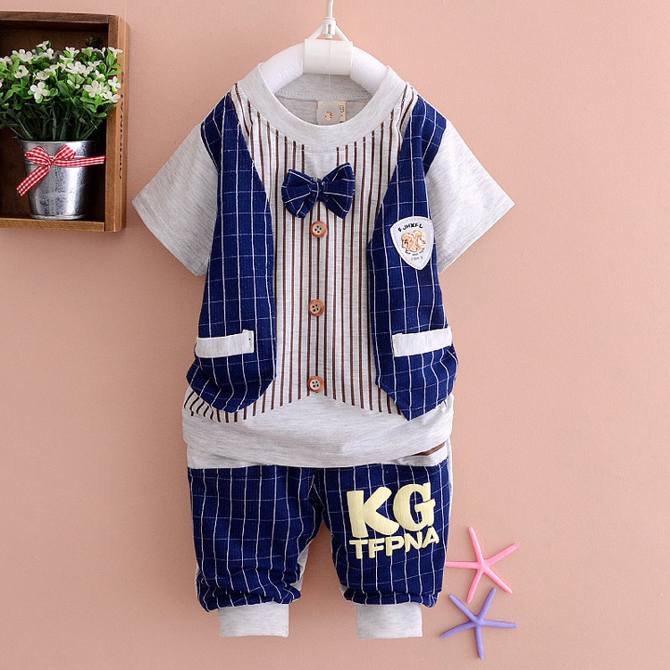Free shipping 2016 new summer baby clothing set nice quality baby boys clothes fashion new design cotton suits A123