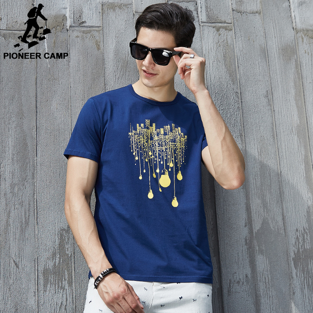 Pioneer Camp summer short t shirt men brand clothing high quality pure cotton male t-shirt print tshirt men tee shirts 522056 4