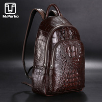 McParko Luxury Bag Men Crocodile Genuine leather Backpack Male Alligator skin Backpack Men Fashion Street Bagpack Gift Back Pack