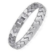 Stainless Steel Magnet Bracelet Magnetic Element Health Bracelet Men's Original Steel Bracelet