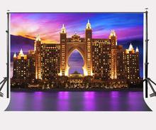 150x220cm Golden Dubai Hotel Backdrop Ultra Violet Dusk View Photography Background Color of the Year 2018