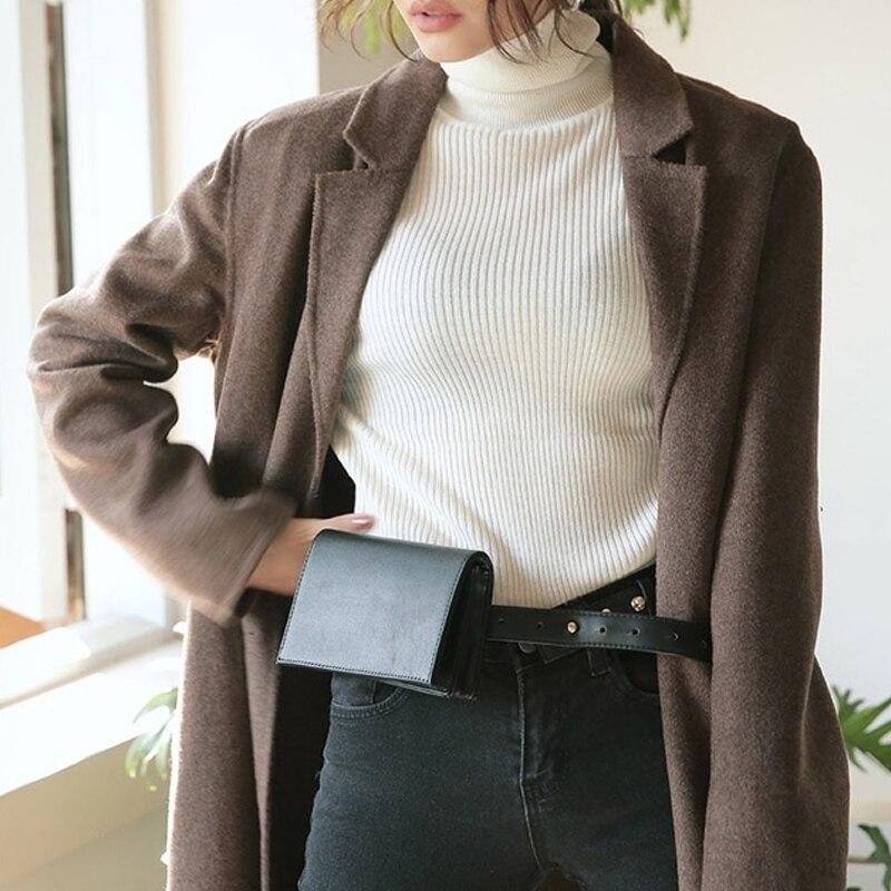 feminina cinto saco retro tendência couro do