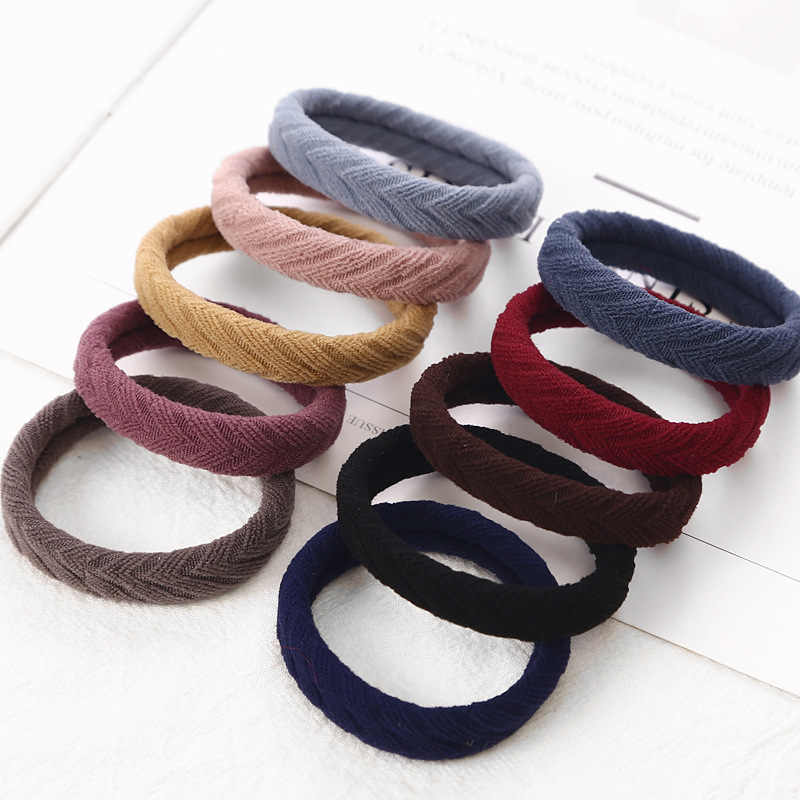 New 10PCS/1Pc Women Girls Simple Basic Elastic HairBands Tie Gum Scrunchie Ponytail Holder Rubber Bands Fashion Hair Accessories