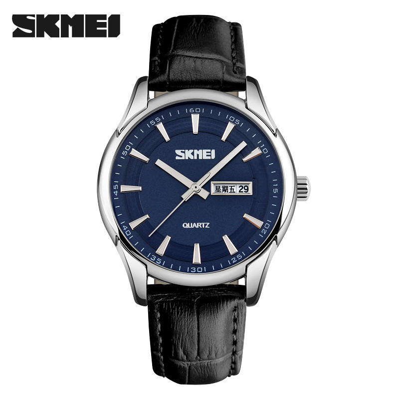 SKMEI Mens Watches Top Brand Luxury Watch Men Quartz Analog Date Casual Wristwatches Waterproof relogio masculino 6COLORS skmei luxury brand men business quartz watches 30m waterproof fashion watch leather strap wristwatches relogio masculino 9117