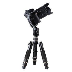 Image 4 - كاميرا فيديو احترافية صغيرة QZSD Q166C من ألياف الكربون ترايبود قابلة للتمديد للسفر مع رأس كروية ولوحة إطلاق سريعة