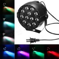Vendita calda 8CH DMX-12 LED Luce Della Fase Par 12 W RGB di Illuminazione per Proiettore Laser Party Club DJ House discoteca