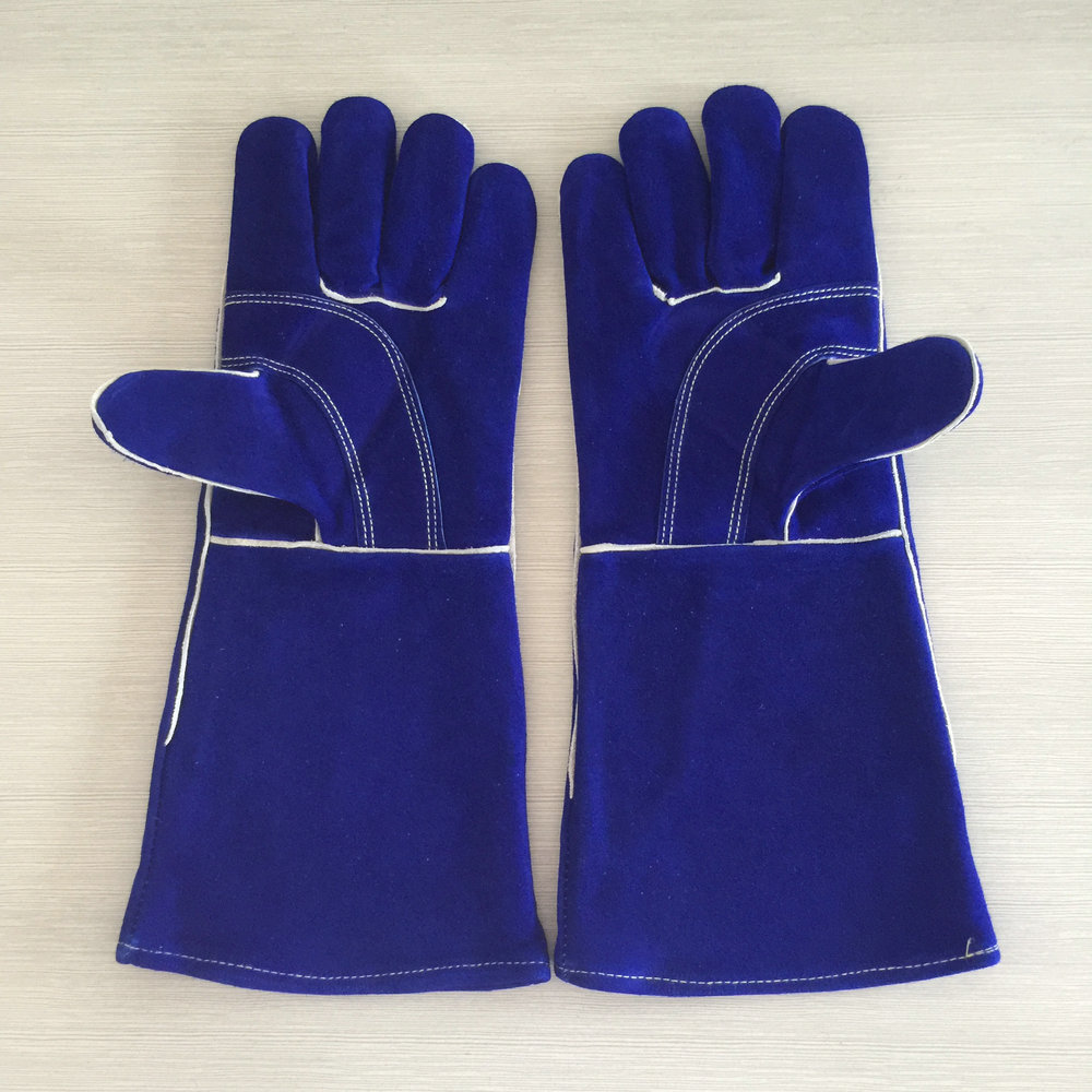 2018 Long Sleeve Welding Gloves Work Gloves Cowskin Leather Barbecue Stove Gloves Garden Safety Protective Cut Heat Resistant strong 0 35mmpb medical x ray protective gloves ray workplace use gloves lead rubber gloves