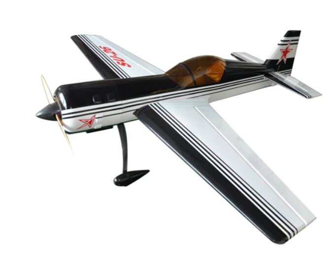 Flight Model Balsa Wood RC Scale Gas Airplane SU-26 50cc 89 3D Aerobatic Black White Color aaa balsa wood sheet balsa plywood 500mmx130mmx2 3 4 5 6 8mm 5 pcs lot super quality for airplane boat diy free shipping