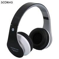 SCOMAS Wireless Bluetooth Headphones Hifi Foldable Deep Bass Sport Bluetooth Headset With Pedometer App Mic NFC
