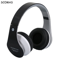 SCOMAS Wireless Bluetooth Headphones Hifi Foldable Deep Bass Sport Bluetooth Headset With Pedometer App Mic NFC