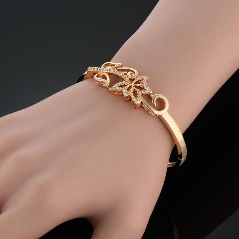 bracelets bangle bracelet stone bangles rose products with stones stainless gold lava steel spring initial