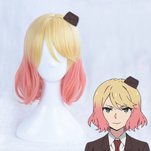 Angels of Death Catherine Ward Cosplay Wig Mixed Gradual Color Short Hair Halloween