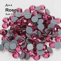 Высокое качество AAA исправление Стразы Роза камень SS6 SS10 SS16 SS20 SS30 Массовая упаковка оптом